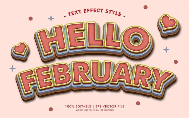 Hallo februar text effekte stil