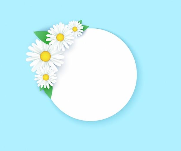 Hallo frühlingsdesign mit realistischen 3d-blumenelementen für die frühlingssaison.