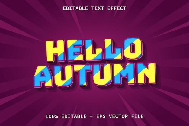 Hallo herbst modern style editierbarer texteffekt