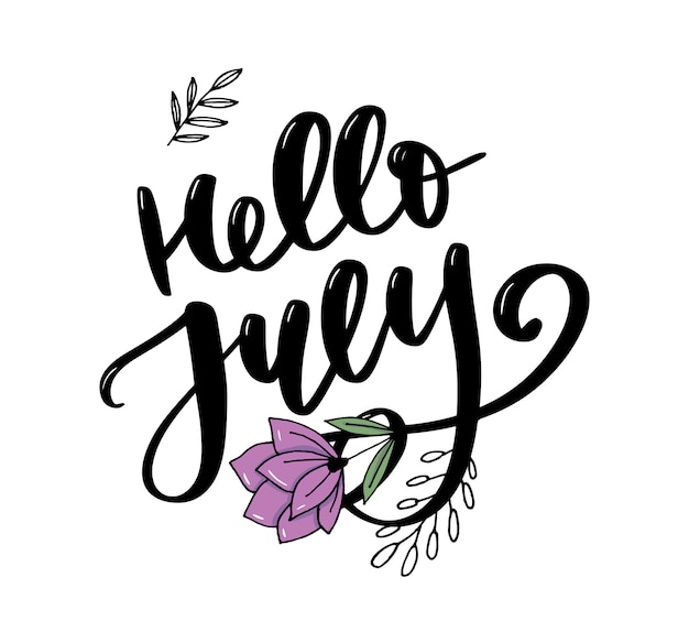Hallo juli schriftzug