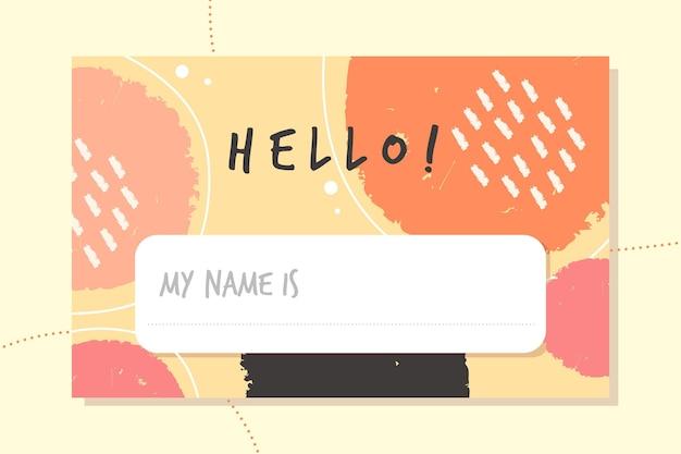 Hallo, mein name ist label