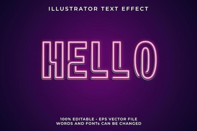 Hallo neon-texteffekt