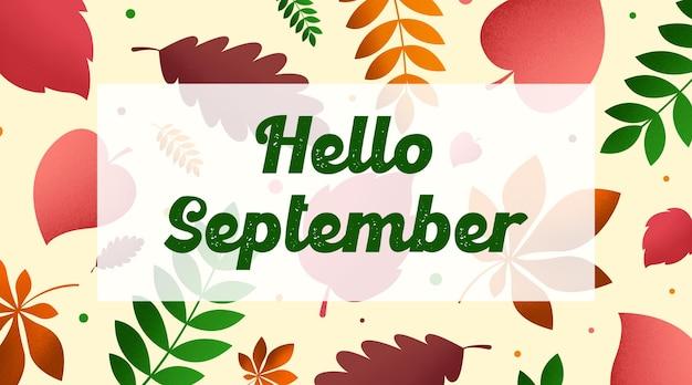 Hallo september hintergrund illustration vektor. glücklicher sommertagillustrationsvektor