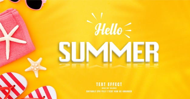Hallo sommer 3d text effekt