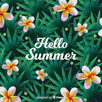 Hallo sommer aquarell hintergrund