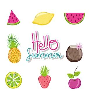 Hallo sommer cartoons