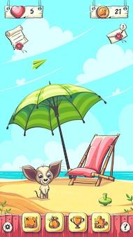 Hallo sommer - der plaing field cartoon-hintergrund