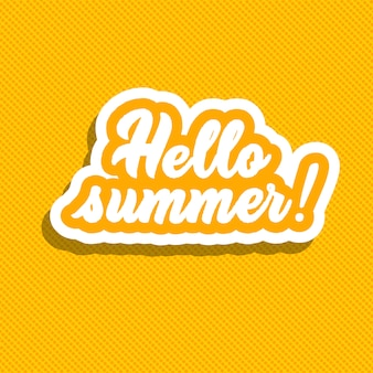 Hallo sommer! hand schriftzug vektor-illustration.