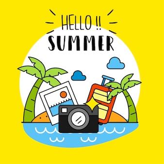 Hallo sommer hintergrund