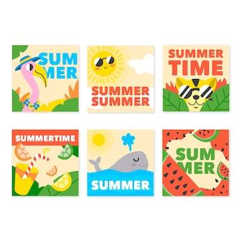 Hallo sommer instagram post