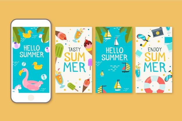 Hallo sommer instagram story design
