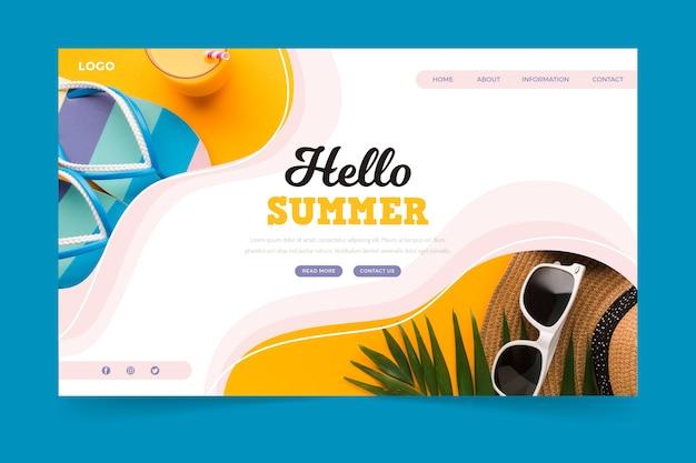 Hallo sommer landing page design