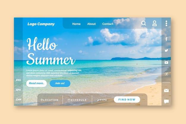 Hallo sommer landing page vorlage
