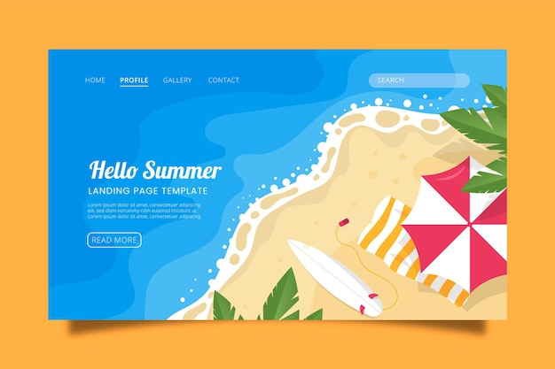 Hallo sommer landing page