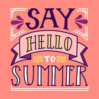 Hallo sommer mit nachricht