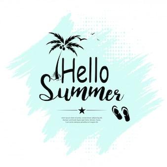Hallo sommer schriftzug vektor-design