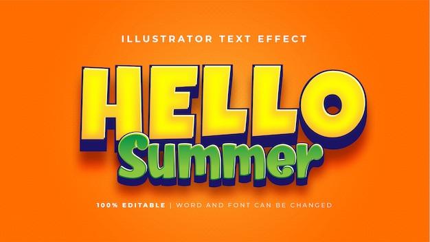 Hallo sommer-texteffekt