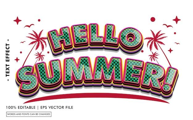 Hallo sommer! texteffektstil