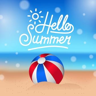 Hallo sommer tropischen strand