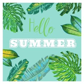 Hallo sommer tropisches design