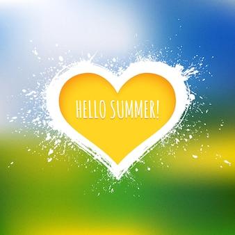 Hallo sommer-vektor-zusammenfassungs-hintergrund