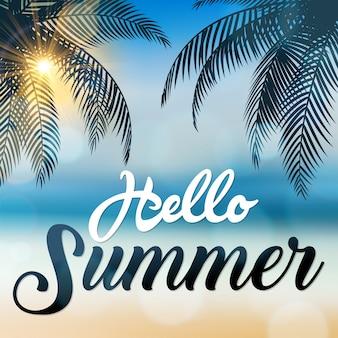 Hallo sommer zeichen