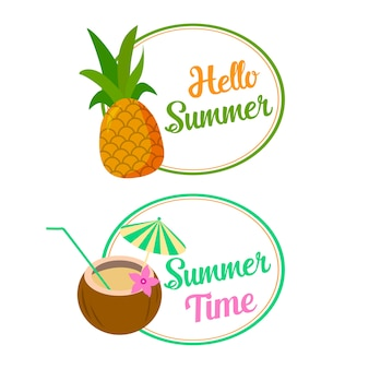 Hallo sommer zwei banner illustration