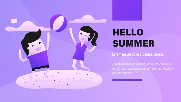 Hallo sommerbanner