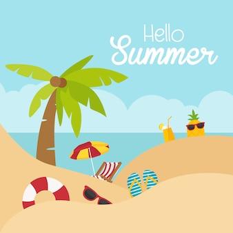 Hallo sommerferienfeststrand