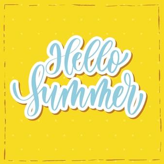 Hallo sommerhand schriftzug.