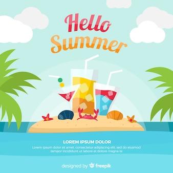 Hallo sommerhintergrund