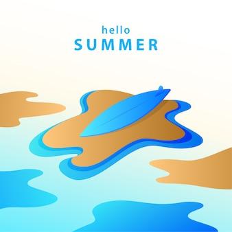 Hallo sommerhintergrundillustration