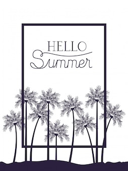 Hallo sommerillustration