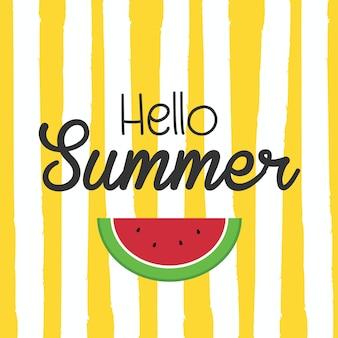 Hallo sommerplakat