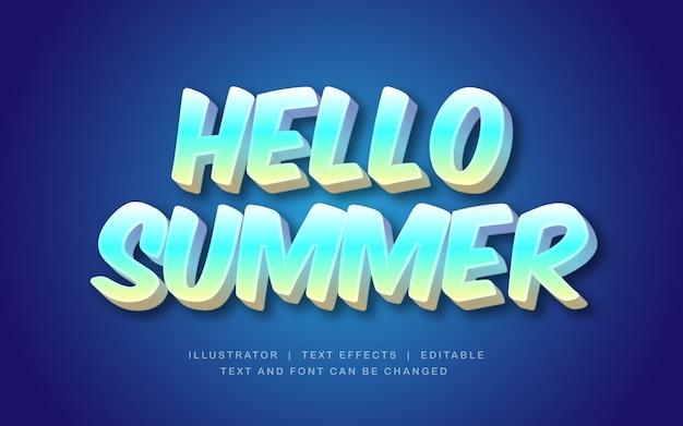 Hallo sommertexteffekt