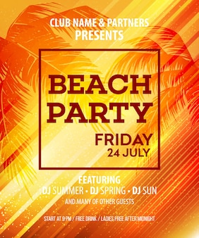 Hallo summer beach party flyer