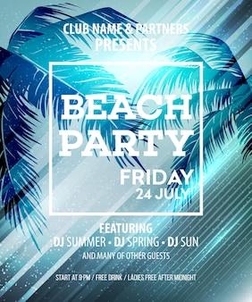 Hallo summer beach party flyer