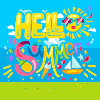 Hallo tropischer sommer