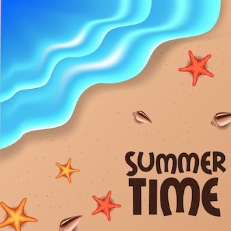 Hallo tropischer strand der sommerzeit