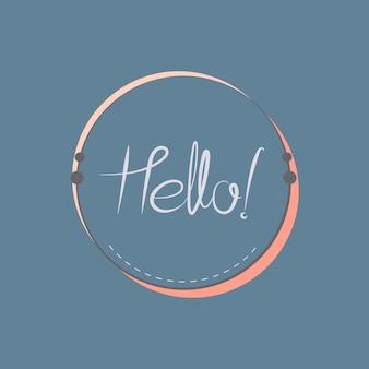 Hallo typografieausweis-designvektor