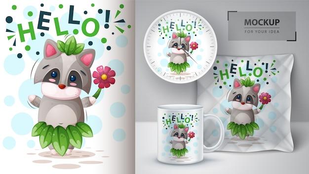 Hallo waschbär und merchandising