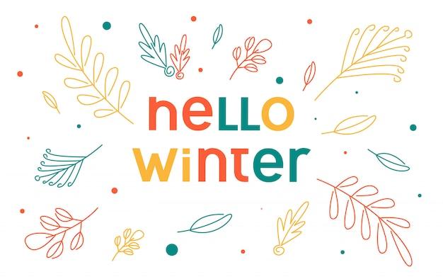 Hallo winter hintergrund