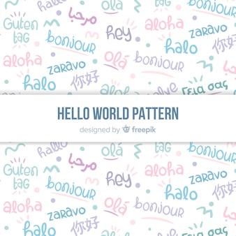 Hallo wortmuster in verschiedenen sprachen