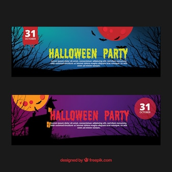 Halloweeen partei banner-pack