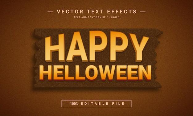 Halloween 3d bearbeitbarer texteffekt