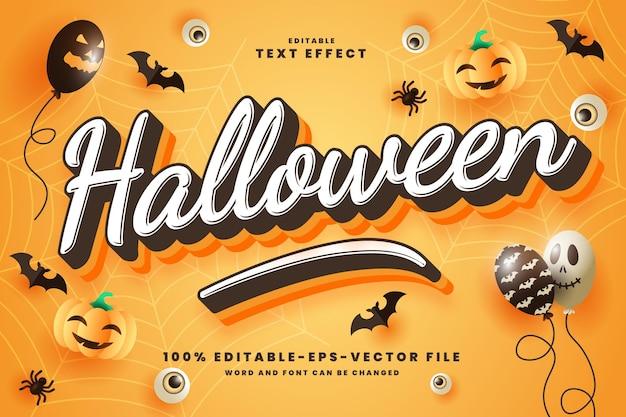 Halloween 3d text editierbare stileffektvorlage premium vektor premium-vektor