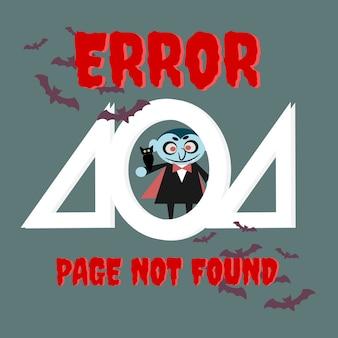 Halloween 404 fehler vorlage hintergrund.