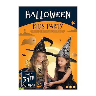 Halloween a5 flyer vorlage