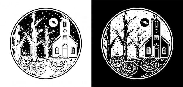 Halloween abzeichen design
