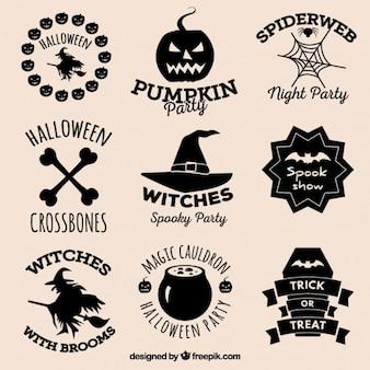 Halloween-abzeichen sammlung